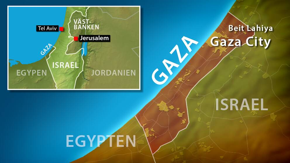 Israeliska rader in i gaza och pa vastbanken