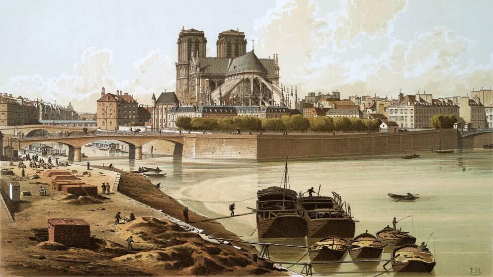 Katedralen Notre-Dame år 1830.