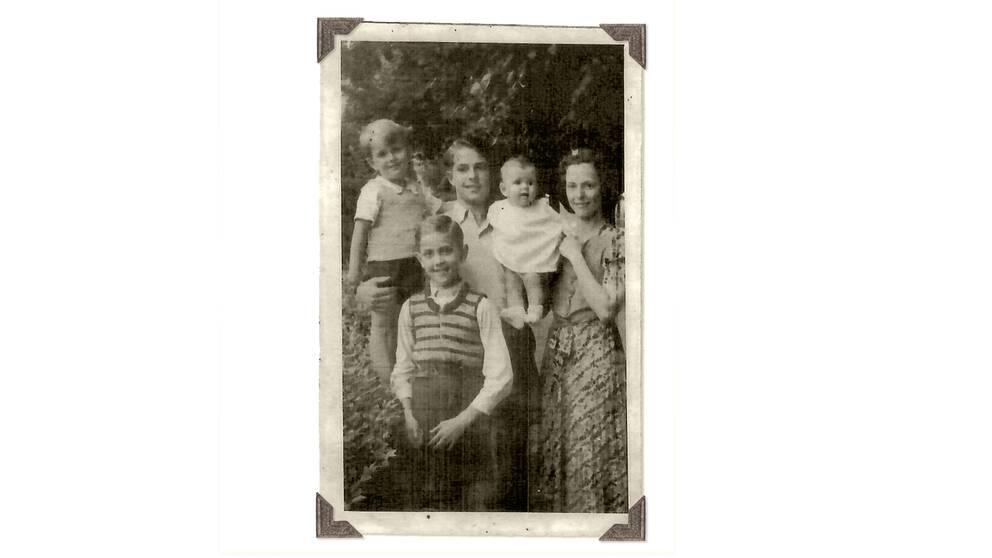 Familjen Sommerlath återförenade i Heidelberg.