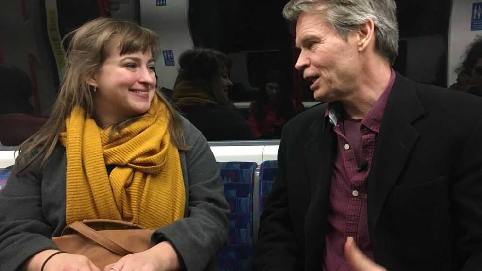 Ellen Grimås i samtal med SVT:s korrespondent Bengt Norborg