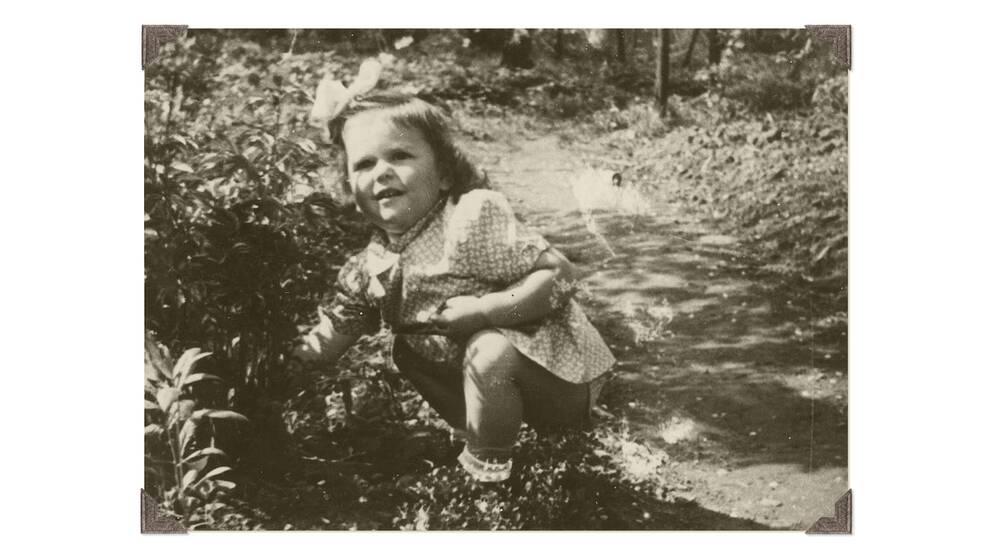 Silvia Sommerlath i Heidelberg innan familjen lämnade Tyskland 1947.
