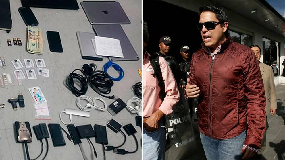 Den häktade svenskens advokat Carlos Soria säger att bilden på beslagtagen utrustning inte säger mer än att svensken tycker om datorer.