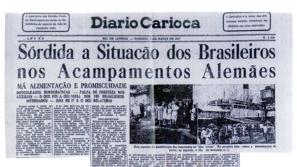 Tidningen Diario Carioca rapporterade om passagerarna från Tyskland som anlände till Rio de Janeiro med fartyget Santarém den 2 mars 1947. Ombord fanns familjen Sommerlath.