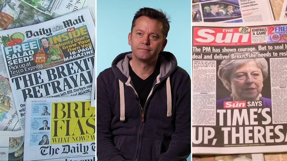 Christian Christensen, professor i journalistik, analysera brittiska mediers brexitrapportering