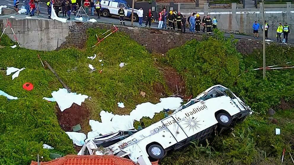 29 döda i bussolycka på Madeira