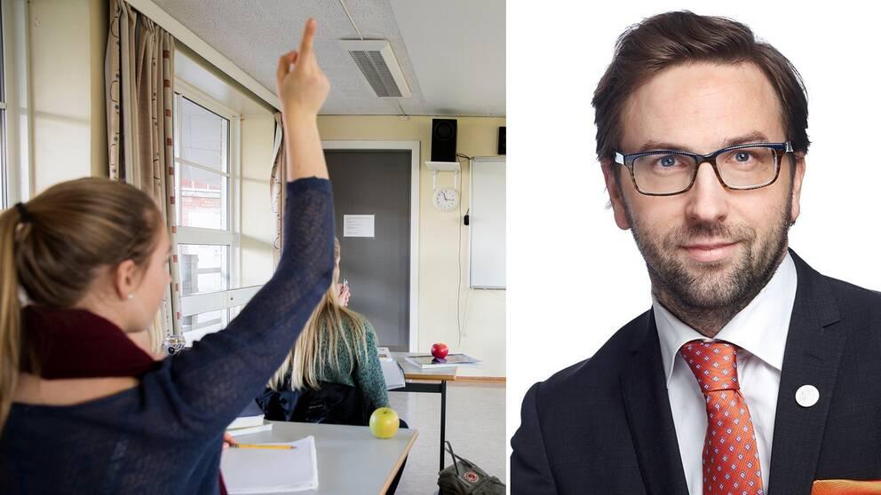 Riksdagsledamot Fredrik Malm (L).