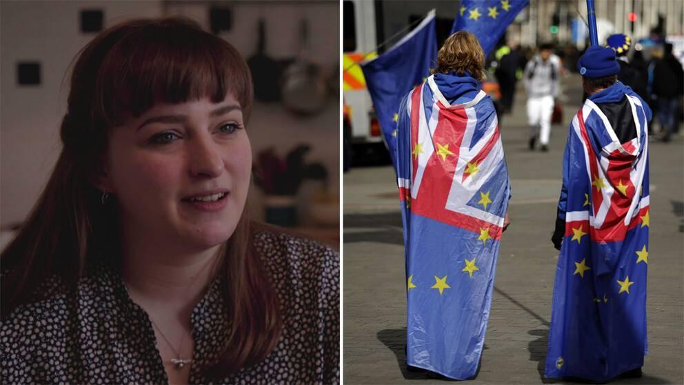 Ellen Grimås berättar att brexit väcker starka känslor.
