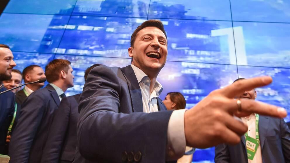 Vinnaren av det ukrainska presidentvalet, Volodymyr Zelenskij
