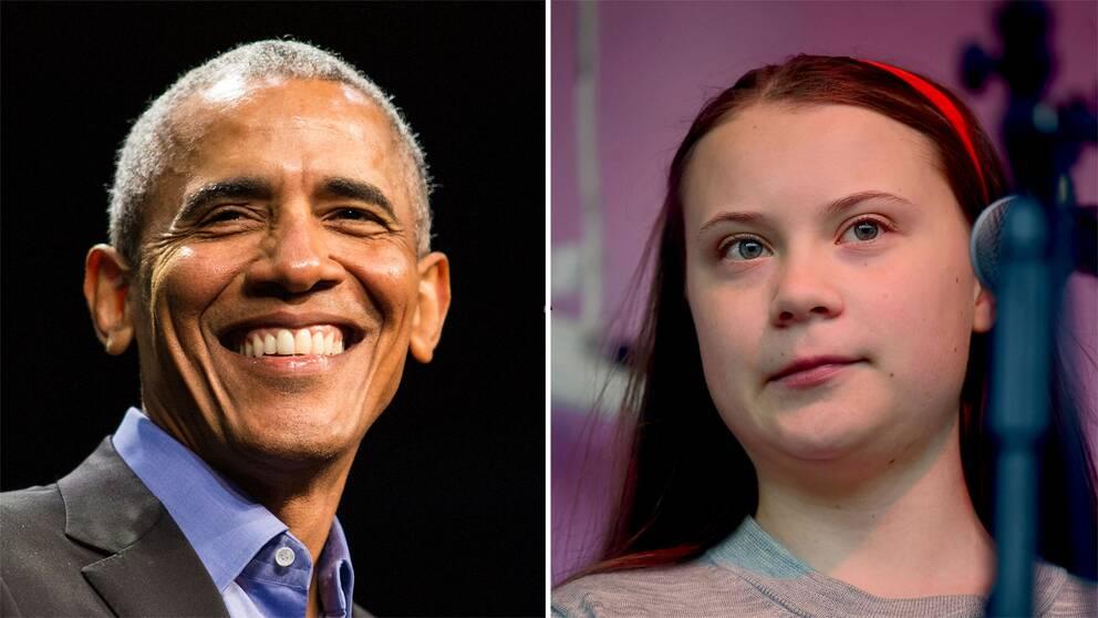 Barack Obama och Greta Thunberg