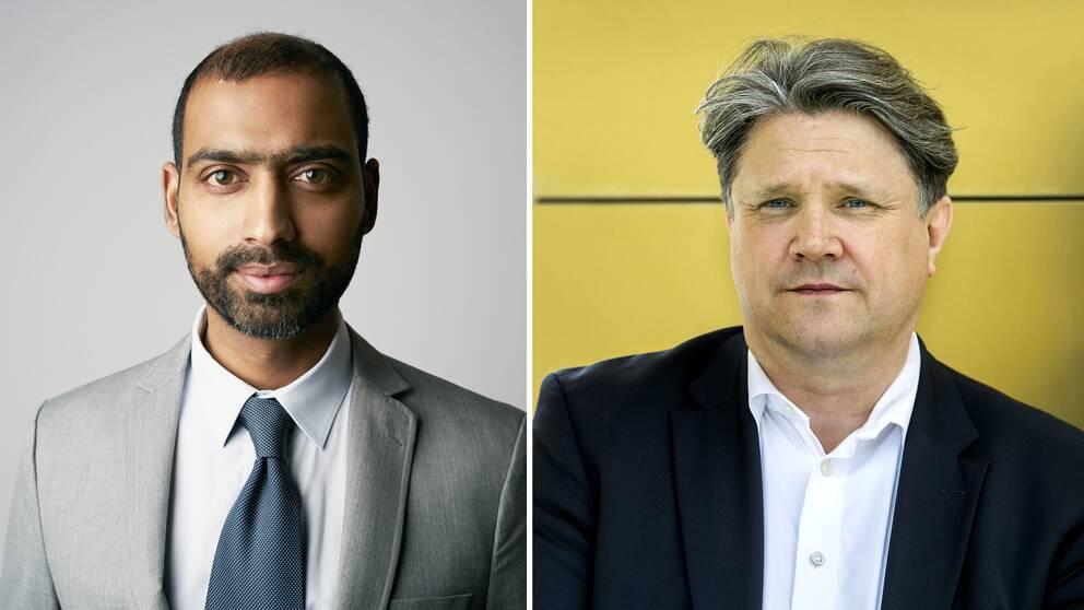 Henrik Chetan Aspengren, forskare Utrikespolitiska institutet och Hans Brun, terrorexpert.