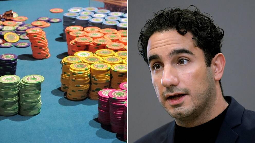Marker på ett casinobord. Ardalan Shekarabi.