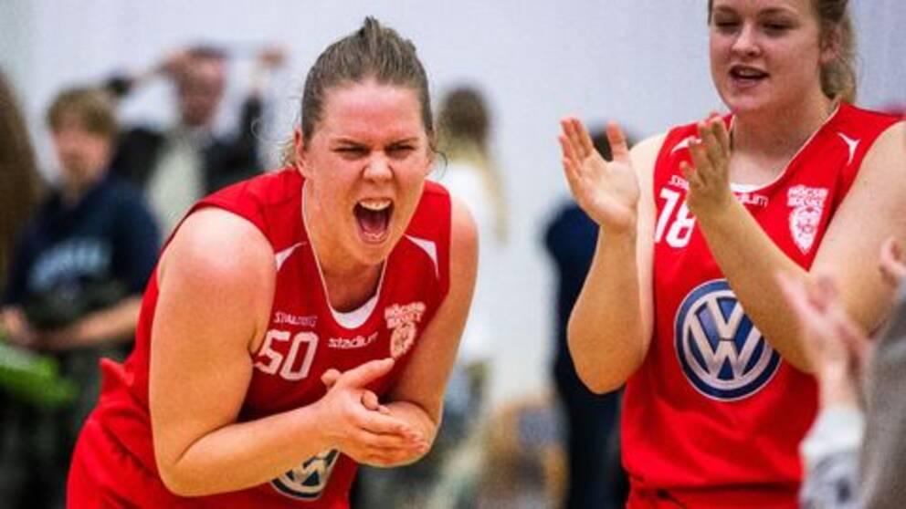 Skrällaget Högsbos spelare Hanna Johansson var en av skrällspelarna i Sveriges bruttotrupp till EM.
