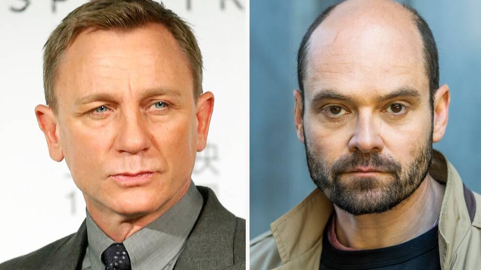 Skådespelarna Daniel Craig och David Dencik.