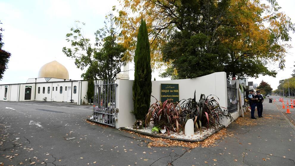 Al Noor-moskén i Christchurch, Nya Zeeland. En person har erkänt att han delat videon på terrordådet som ägde rum på platsen.