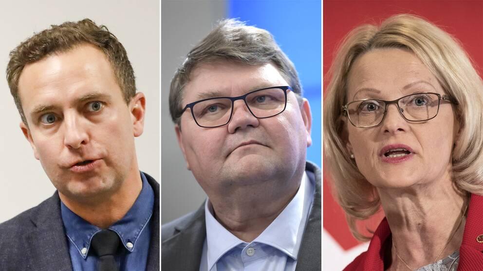 Tomas Tobé (M), Peter Lundgren (SD) och Heléne Fritzon(S).
