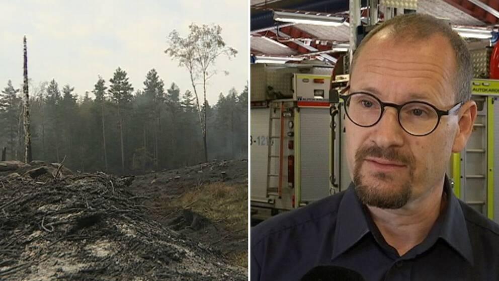 Samuel Nyström, räddningschef Jönköping, bränd skog