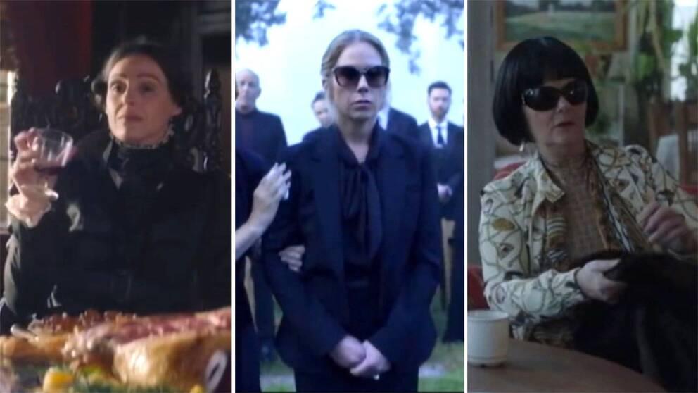 Skärmdumpar från serierna