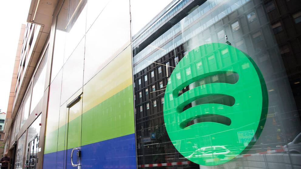 Spotifys huvudkontor i Stockholm. Arkivbild.