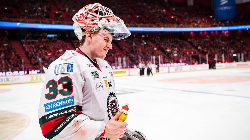 Johan Mattsson efter final två i Globen.