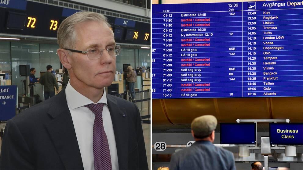 Rickard Gustafsson, vd på SAS, säger att båda parter måste ta ansvar för att konflikten ska få ett slut.