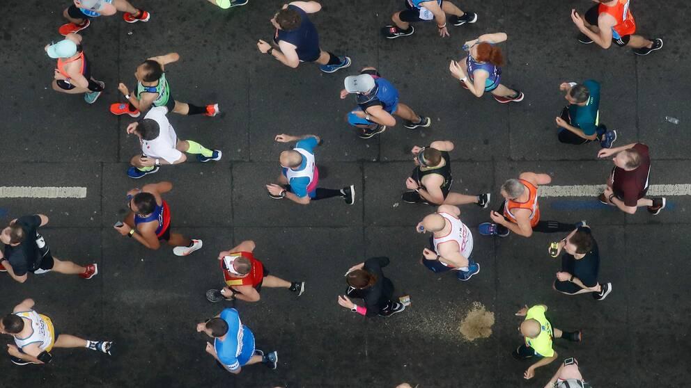 Tävlande under ett maratonlopp i London.