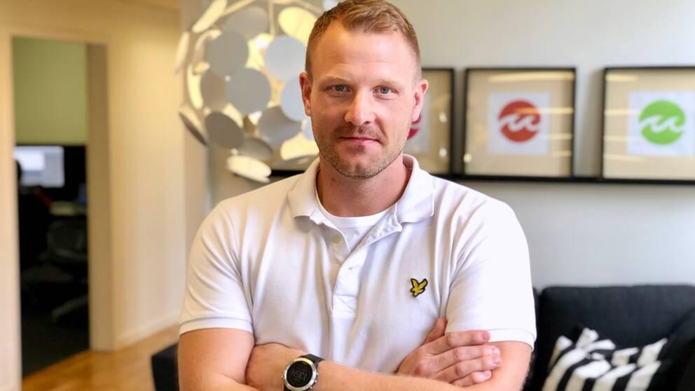 Marcus Alsér, ordförande Företagarna i Vimmerby.