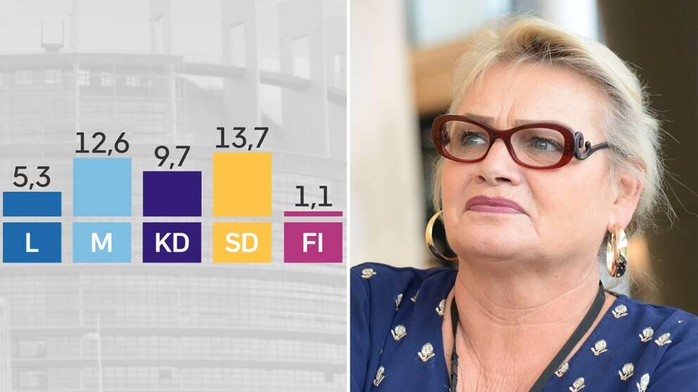 Feministiskt initiativ ser ut att få det svårt att behålla sitt mandat i EU-parlamentet. – Vi har precis börjat, så vi har nu fram till den 26 maj på oss att gå ut och presentera vår feministiska politik, säger partiets EU-parlamentariker Soraya Post.
