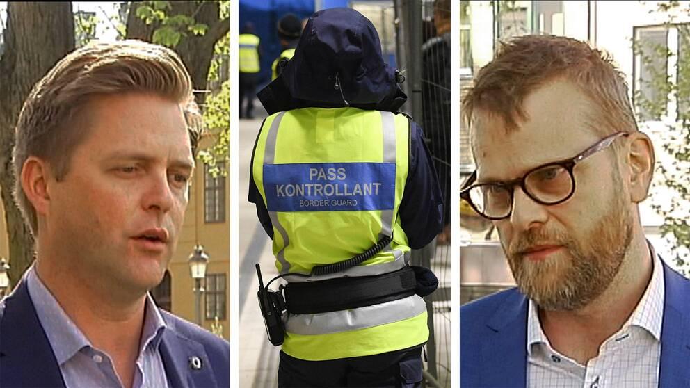 Christian Holm Barenfeld (M) och Kenneth Johannesson (S) om den gränskontroller och den gränsöverskridande brottsligheten