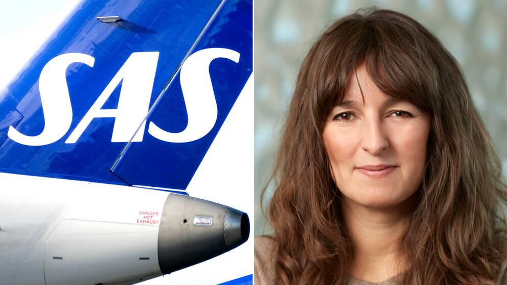Sas-flygplan och Åsa Öhman