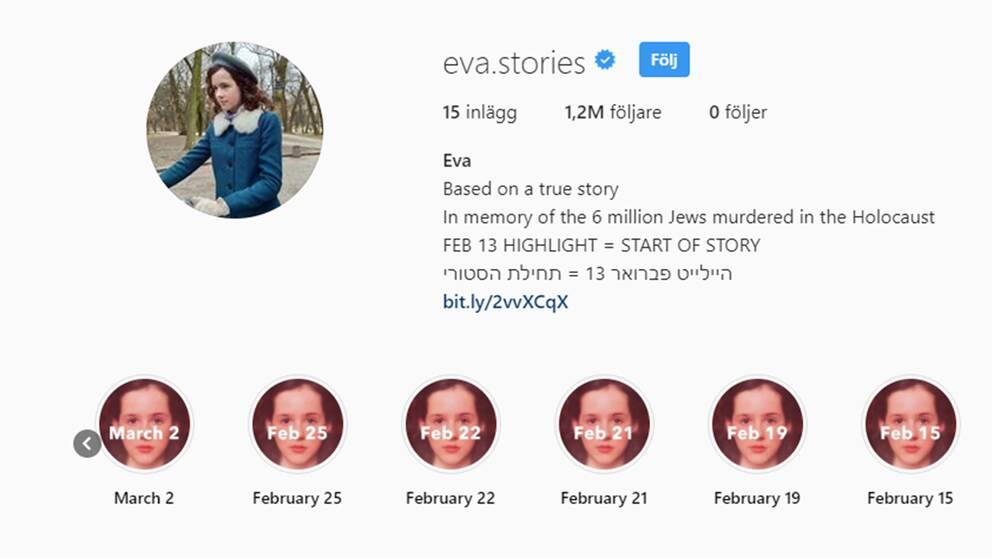 Instagramkontot om 13-åriga Eva Heymanns liv som judinna 1944 har både uppmärksammats och kritiserats.