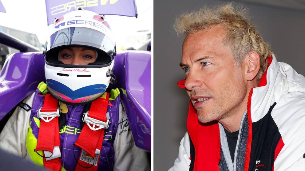 """Jacques Villeneuve (till höger) är kritisk till att damer får en egen racingserie. """"Detsamma som att säga att de inte är lika bra som män"""", säger den förre F1-mästaren."""