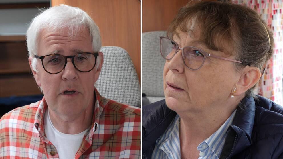 Husbilsägarna Urban Fredriksson och Christina Bursjö
