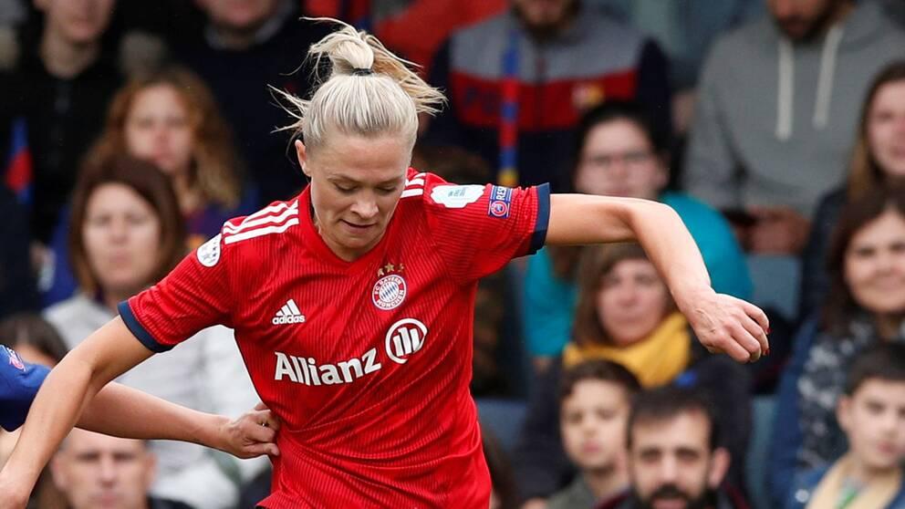 Fridolina Rolfö avslutade sin Bayern Münchensejour med att bli tvåmålsskytt.