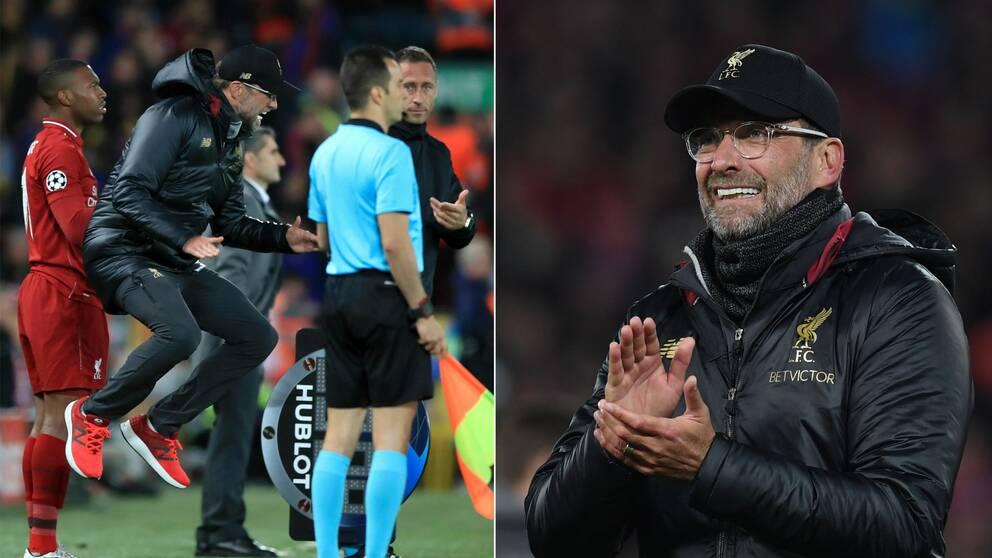 Jürgen Klopp och hans Liverpool vände mirakulöst mot Barcelona.