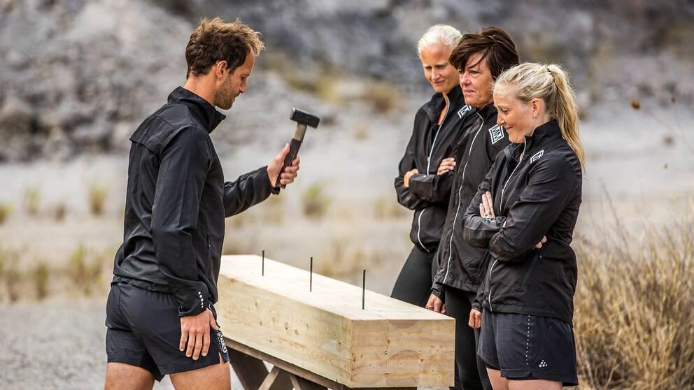Hammaren med Anders Södergren, Carolina Klüft., Marika Skogum och Kim Martin.
