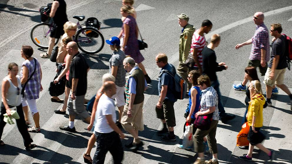STOCKHOLM 20100628 Övergångsställe. Foto: Claudio Bresciani / SCANPIX / Kod 10090