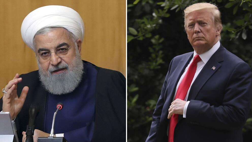 Irans president Hassan Rouhani och USA:s president Donald Trump.