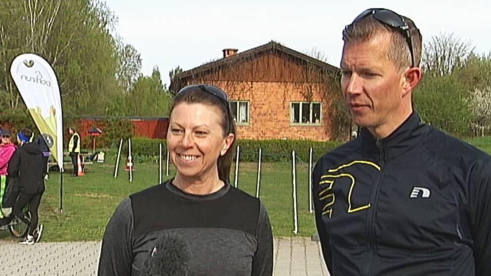 Veronica Kennett och Thomas Söderling, deltagare i loppet.