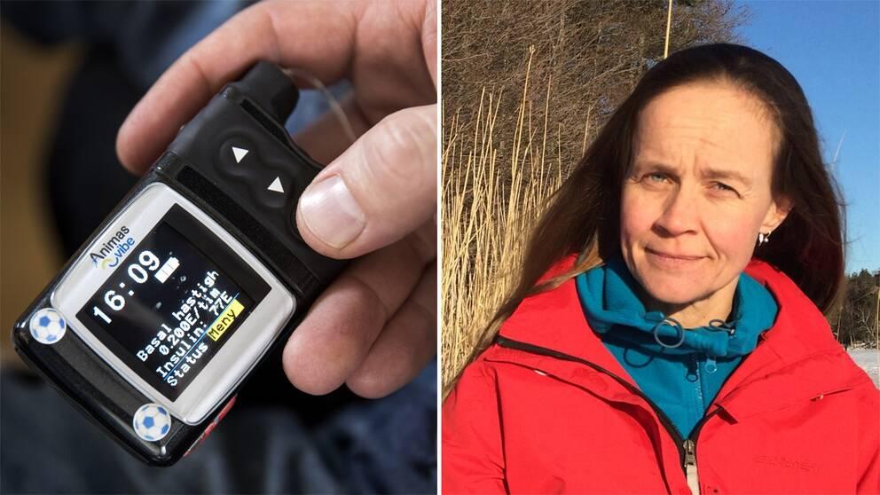 Pernilla Lannerö är en av dem som lånat och bytt mediciner och hjälpmedel i Facebookgrupper för diabetiker.