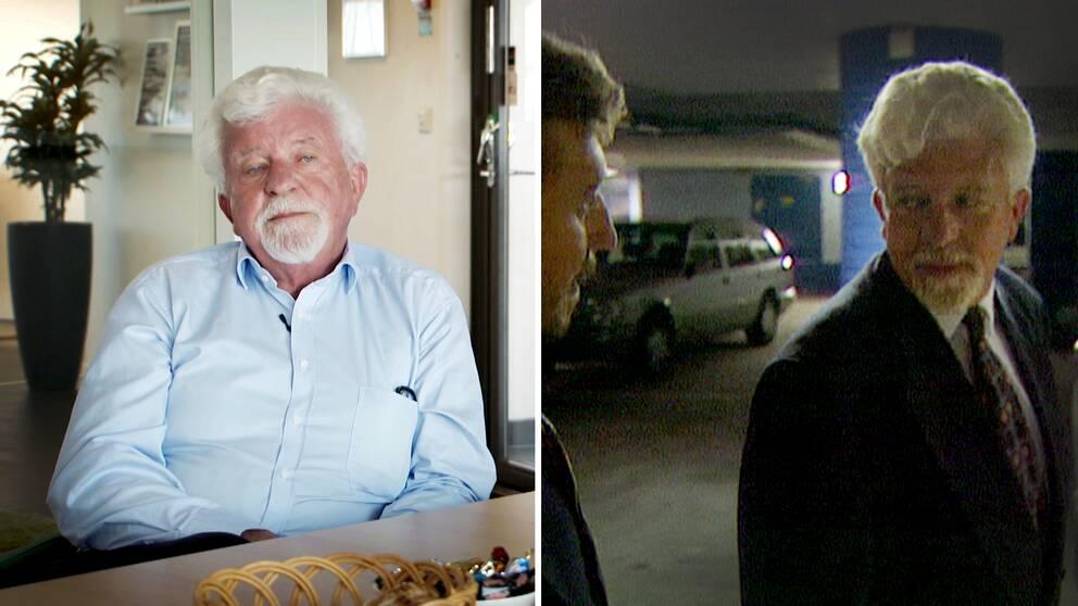 Företagsledaren Rune Andersson på två bilder. En aktuell bild och en från 1996.