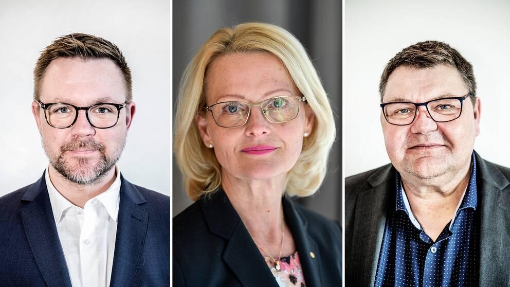 Toppkandidaterna för Centerpartiet, Socialdemokraterna och Sverigedemokraterna heter Fredrick Federley, Heléne Fritzon och Peter Lundgren.