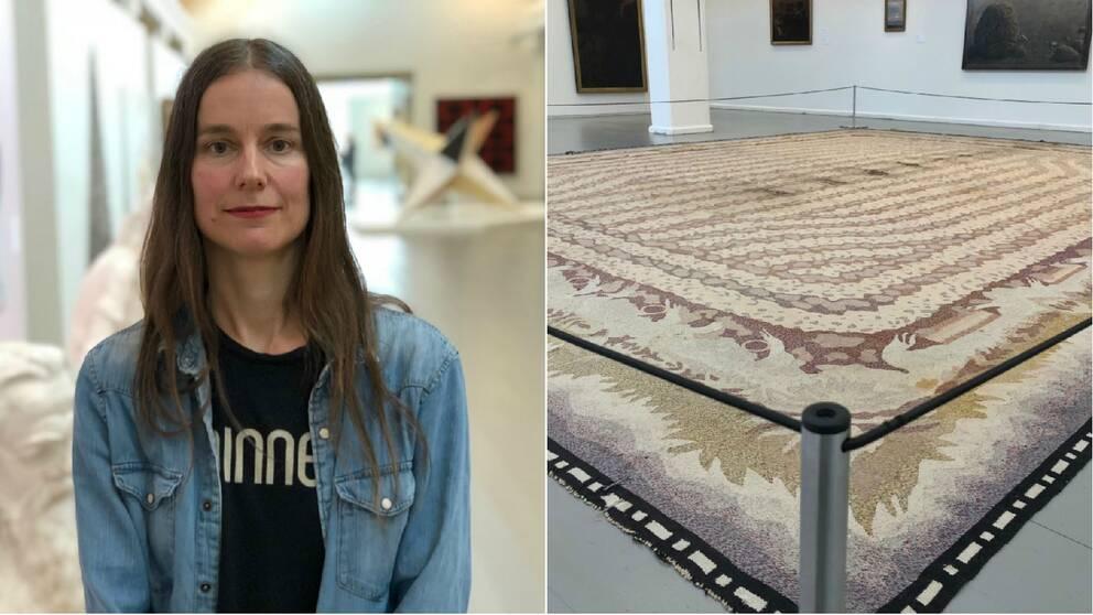 Åsa Elzén samt mattan
