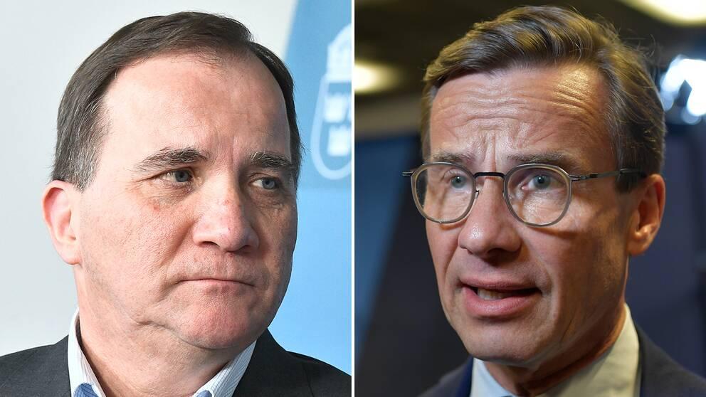 Enligt Mats Knutson finns det en oro inom socialdemokratin att stora satsningar på försvaret just nu kan spä på den interna kritiken mot partiledningen. På bilden syns statsminister Stefan Löfven och Moderaternas partiledare Ulf Kristersson.