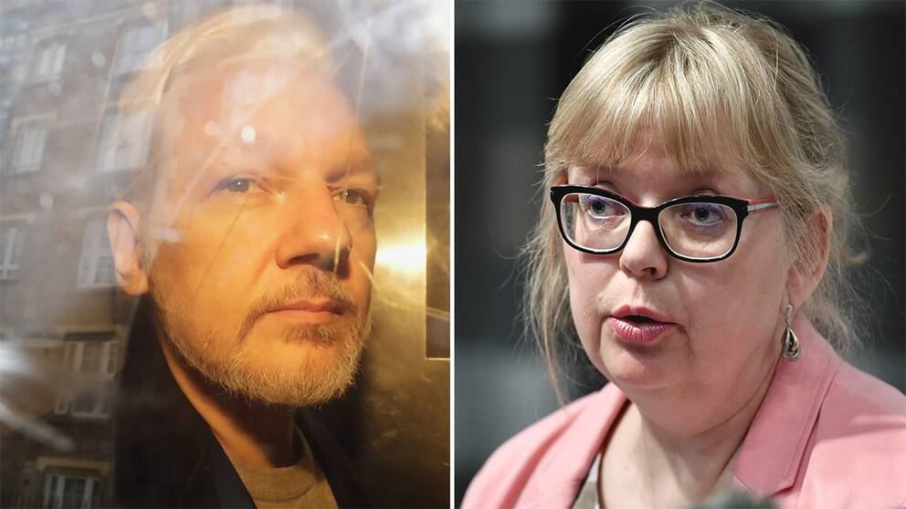 Wikileaks grundare Julian Assange och vice överåklagaren Eva-Marie Persson.