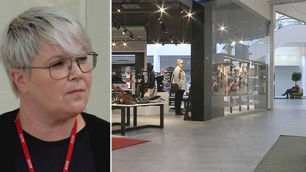 Avion shoppingcenter i Umeå och centrumchef Mia Eskilsson.