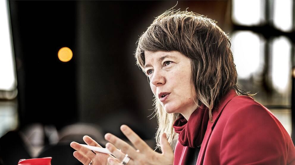 Vänsterpartiets Malin Björk.
