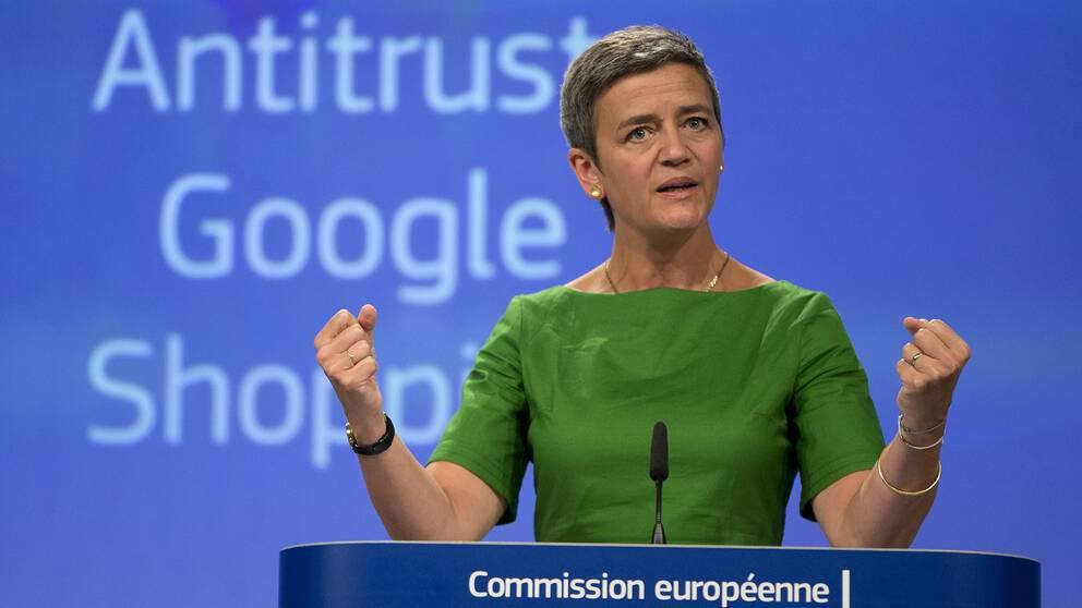 Margrethe Vestager har utmärkt sig genom att ta upp kampen mot tech-jättar som Apple och Google.