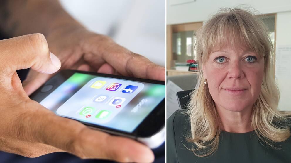 Anna Flink, chef för försörjningsstöd på Södertälje kommun, berättar hur de tar hjälp av sociala medier för att avslöja fusk.