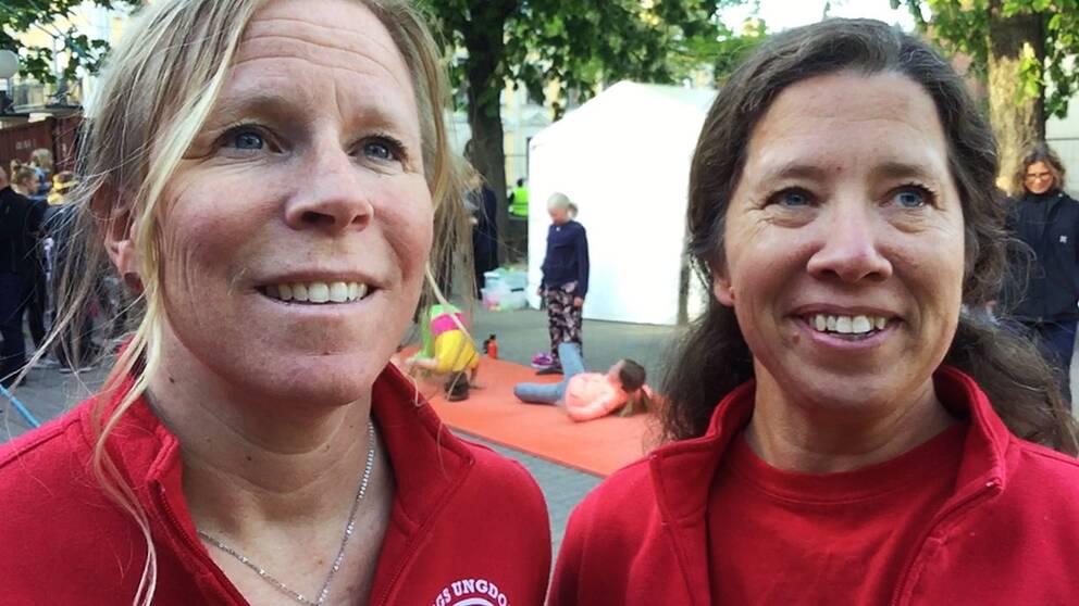 Maria Rothman och Lena Riedel delar på ordförandeskapet i Norrköpings ungdomscirkus.