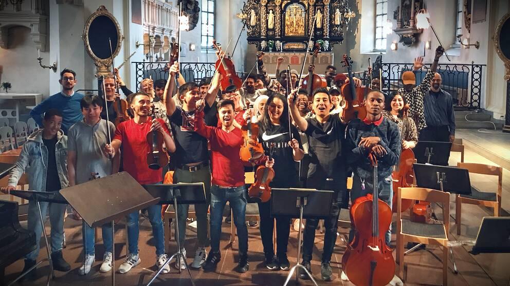 Bild på orkestern